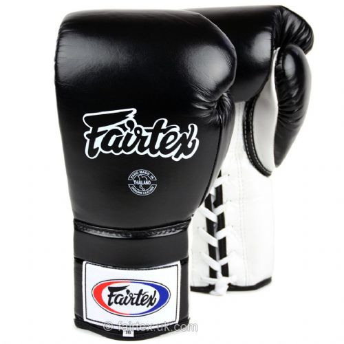 Fairtex Lace Up Sparring Gloves - Black/White